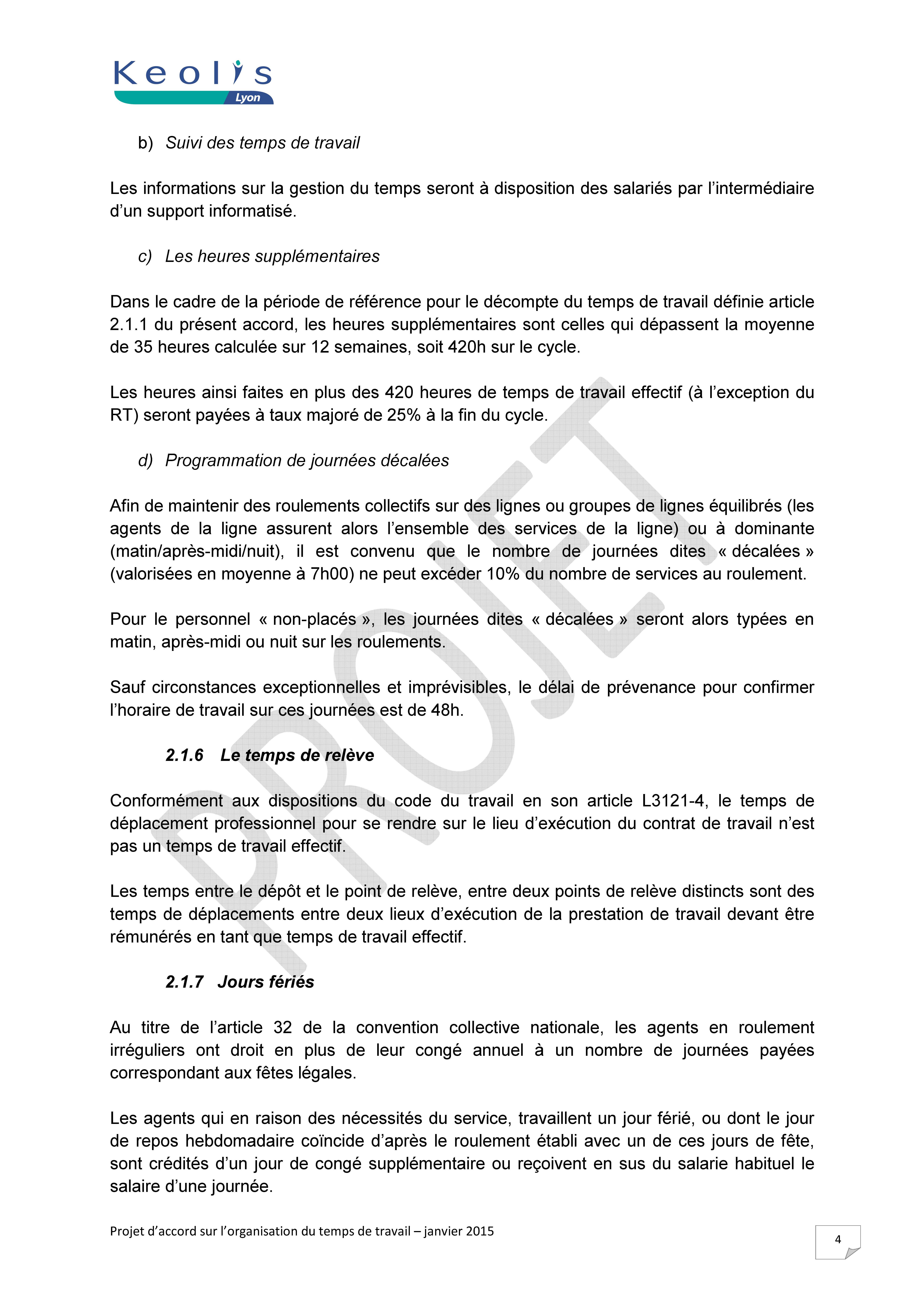90bce020aeb Projet d accord janvier 2015 » FO TCL Syndicat Libre et Indépendant